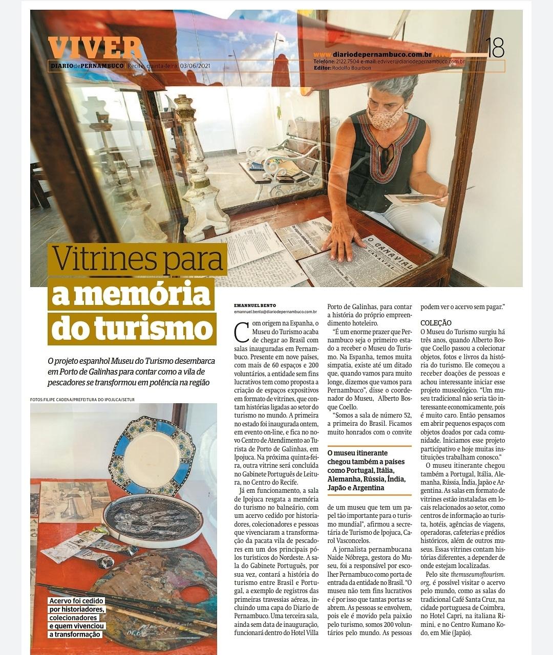 Foto:Jornal Diário de Pernambuco Editor: Rodolfo Bourbon